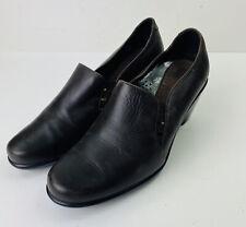 Dansko Beth Women's Dark Brown Leather Heels Clogs Shoes Sz 38 US 7.5 - 8