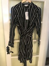 Warehouse Striped Tie Wrap Dress. New Tagged Uk 10