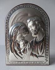 Silber Reliefbild * Heilige Familie mit Jesuskind * L. Tunno Italien