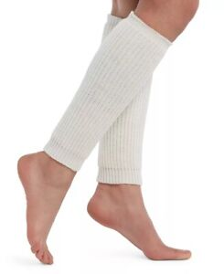 Hue Ivory Ribbed Legwarmers, Warm Cozy Sweater Knit NWT Women's One Size