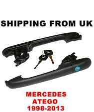 2x EXTERIOR DOOR HANDLE LOCK SET FRONT LEFT RIGHT works w/ 1 KEY! MERCEDES ATEGO