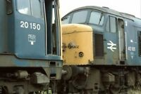 PHOTO  CLASS 20 LOCO NO 20150 - 45105 AT MARCH DEPOT 1987