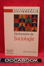Dictionnaire de Sociologie - Encyclopaedia Universalis - Livre - Occasion