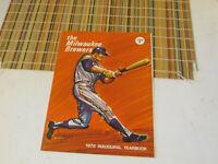 1970 Milwaukee Brewers Inaugural Yearbook