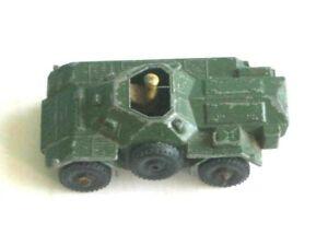 1 x MATCHBOX / LESNEY # 61a. MILITARY ARMY FERRET SCOUT CAR 1959-66
