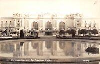 San Francisco California 1952 RPPC Real Photo Postcard Civic Auditorium