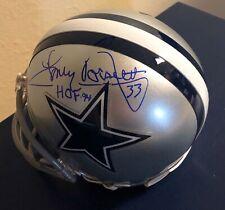 Tony Dorsett HOF 94 Signed Autographed JSA Dallas Cowboys Mini Helmet #2