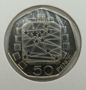 1992-1993 EEC Fifty Pence 50p Coin - Scarce
