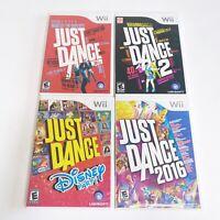 Nintendo Wii Just Dance 1, 2, Disney Party 2016 Bundle 4 Game Lot Rhianna