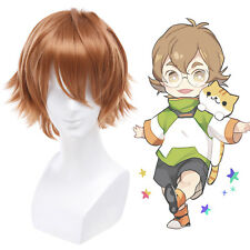 Light Brown Short Straight Cosplay Wigs Hair Mens Wig Anime