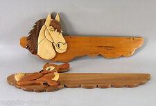 PAIRE DE PLAQUES EN BOIS artisanales POUR CHAMBRE D'ENFANT, cheval, faon
