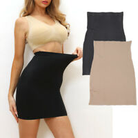 Half Slip for Under Dresses Womens Tummy Control Slip Seamless Body Shaper Skirt