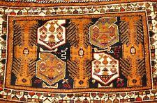 c1920s ANTIQUE PERSIAN SHIRAZ QASHKAI CARGO BAG RUG 2.9x4.3 FUNCTIONAL_HORSE BAG