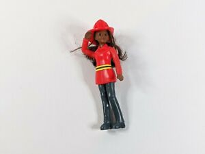 Firewoman Small Red Rescue Hero Heroin 13cm Girls Action Figure Toy