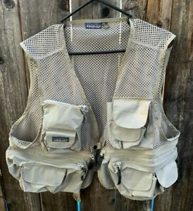VTG 1980s Patagonia Mesh Fly Fishing Vest Men's Size Large EXCELLENT Condition