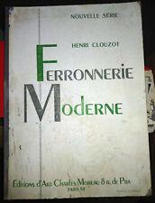 Antique Ferronnerie Moderne Nouvelle Henri Clouzot 32 Plates Art Deco Ironwork