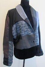 Claudia Grau  LA Silk Patchwork Short/Cropped Kimono Jacket Sz S
