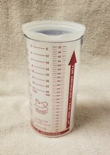 Pampered Chef WET DRY MEASURING Measure CUP 16 oz Solids Liquids 2 Piece VGC