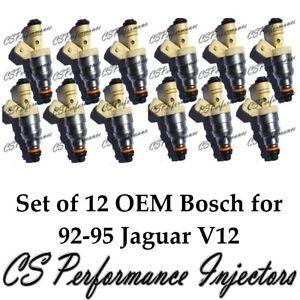OEM Bosch Fuel Injectors Set (12) for Jaguar 1992-1995 XJ12 XJRS XJS 6.0 5.3 V12