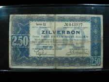 Netherlands 2.50 Zilverbon 1938 Dutch 44# Currency Bank Money Banknote