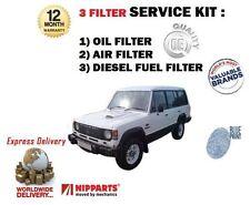 Per Mitsubishi Shogun Pajero 2.5 TD 1983-1991 Service Set Olio Aria Carburante Filtro KIT