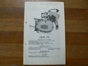 FBM P2 FB MINARELLI 1954 ONWARDS SERVICE AND REPAIR GUIDE PARTS LIST WOLF HAAG