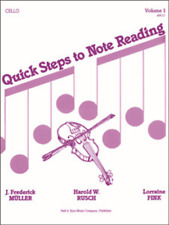 Quick Steps To Notereading, Vol 1 - Cello