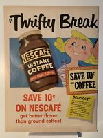 1954 Nescafe Instant Coffee - Old Forester Bourbon Whiskey - Magazine Ad