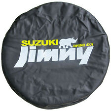 "Spare Tire Cover 14inch(23""-27"") For Suzuki JIMNY RHINO 4X4 Black Vinyl"