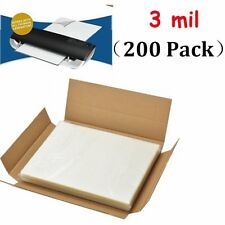 3 Mil Letter Size Thermal Laminator Laminating Pouches 200 Qty - 9 x 11.5 Sheets