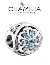 BNIB CHAMILIA 925 silver & Swarovski SNOWFLAKE ACCENT charm bead, Christmas