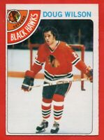 1978-79 O-Pee-Chee #168 Doug Wilson ROOKIE RC NEAR MINT+ Chicago Blackhawks