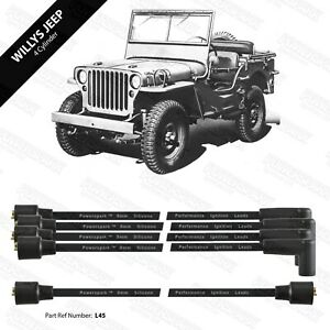 Willys Jeep 8mm Double Silicone Performance HT Leads Black