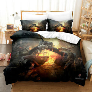 Military Tank Bedding Set Quilt Cover Duvet Cover Double Pillowcase Weapon 5#