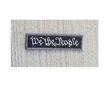 Morale Patch Special Ops Gear - WE THE PEOPLE - SWAT Nylon - NEW - Hook & Loop