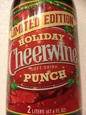 Cheerwine 🍒🙌🏻🎉Limited Holiday🎊 🙌🏻Punch  Rare 👊🏻2 L Bottle.Free Shipping