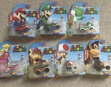 🔥 Hot Wheels 2018 Nintendo Super Mario Bros Set of 7 New Cars 🔥HTF Brand New!!