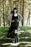 SPIN DOCTOR HELL BUNNY GOTHIC BURLESQUE VICTORIAN  ALTAIRA LONG MAXI DRESS 4442
