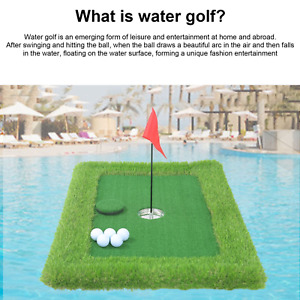 Pool Golf Game Set Floating Golf Green with Other Accessories Putting Green Set