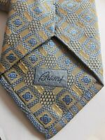 BRIONI thick woven Handmade in Italy Silk men's  tie