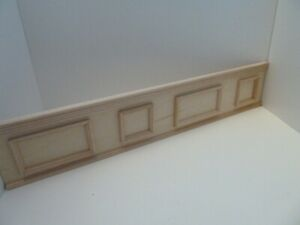 Dolls House DIY Building Miniature 1:12 Scale Wooden Natural Finish Panelling