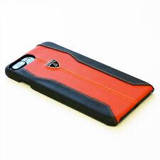 LAMBORGHINI HURACAN LEDER iPhone 7 Plus, 8 Plus SCHUTZHÜLLE Back Case Orange