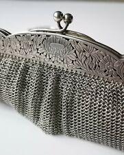 schöne 800 Silber Jugendstil Theatertasche Handtasche Art Nouveau silver bag