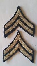 Paire de Grades de manche caporal US mod.42 tissé  WWII - ORIGINAL
