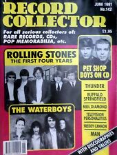 ROLLING STONES /WATERBOYS /PET SHOP BOYS Record Collector No.142 June 1991 Wrap