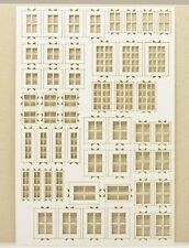 te-miniatur 6413 Lasercut Fenstersatz 1 weiß (Spur H0)