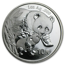 2004 China 1 oz Silver Panda BU (NOT in Plastic) - SKU#30551