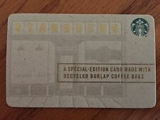 "Starbucks ""Special Edition Card Made From Recycled Coffee Bags"" Card"