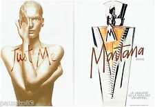 PUBLICITE ADVERTISING 115  1997  MONTANA  parfum femme  (2p) JUST ME