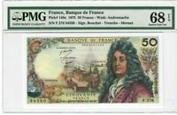 France 50 Francs Banknote 1975 Pick#148e PMG Superb GEM UNC 68 EPQ
